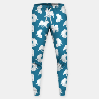 Thumbnail image of Samoyed Pattern (Blue Background) Sweatpants, Live Heroes