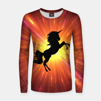 Thumbnail image of Unicorn Women sweater, Live Heroes