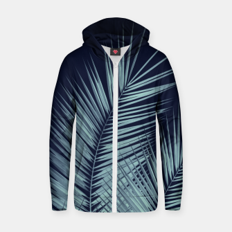 Miniaturka Navy Blue Palm Leaves Dream - Cali Summer Vibes #1 #tropical #decor #art  Reißverschluss kapuzenpullover, Live Heroes