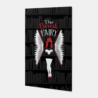 Thumbnail image of The Book Fairy bookish gift for girls and women Canvas, Live Heroes