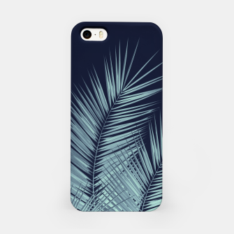 Miniatur Navy Blue Palm Leaves Dream - Cali Summer Vibes #1 #tropical #decor #art  iPhone-Hülle, Live Heroes
