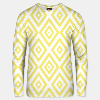 Miniaturka Abstract geometric pattern - gold and white. Unisex sweater, Live Heroes