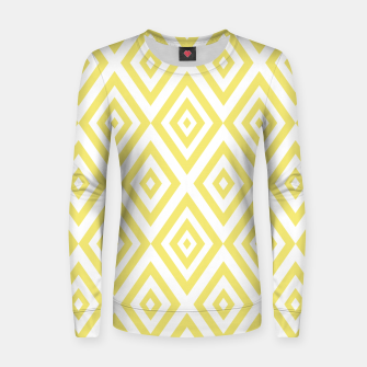 Miniatur Abstract geometric pattern - gold and white. Women sweater, Live Heroes