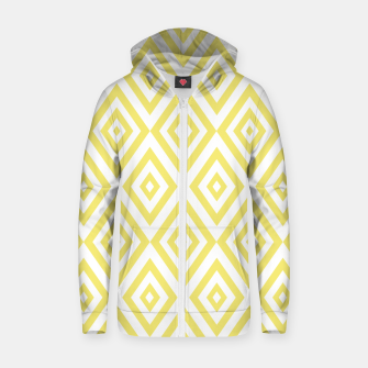 Miniaturka Abstract geometric pattern - gold and white. Zip up hoodie, Live Heroes