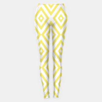 Thumbnail image of Abstract geometric pattern - gold and white. Leggings, Live Heroes