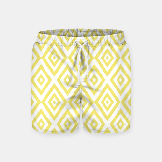Thumbnail image of Abstract geometric pattern - gold and white. Swim Shorts, Live Heroes