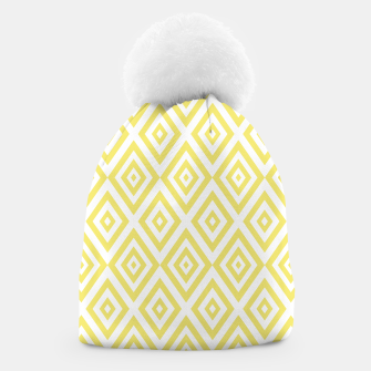 Miniaturka Abstract geometric pattern - gold and white. Beanie, Live Heroes