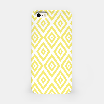 Miniatur Abstract geometric pattern - gold and white. iPhone Case, Live Heroes