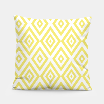 Miniatur Abstract geometric pattern - gold and white. Pillow, Live Heroes