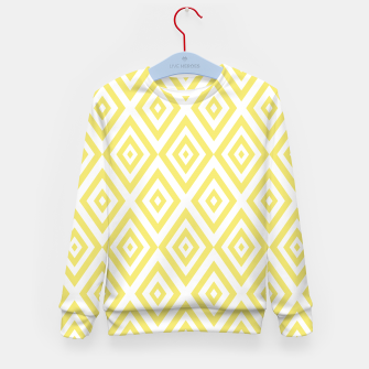 Miniaturka Abstract geometric pattern - gold and white. Kid's sweater, Live Heroes