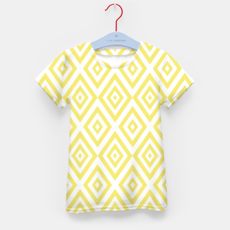 Miniaturka Abstract geometric pattern - gold and white. Kid's t-shirt, Live Heroes
