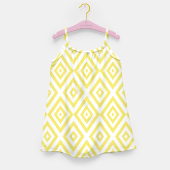 Miniaturka Abstract geometric pattern - gold and white. Girl's dress, Live Heroes