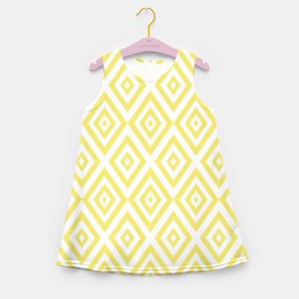 Miniaturka Abstract geometric pattern - gold and white. Girl's summer dress, Live Heroes