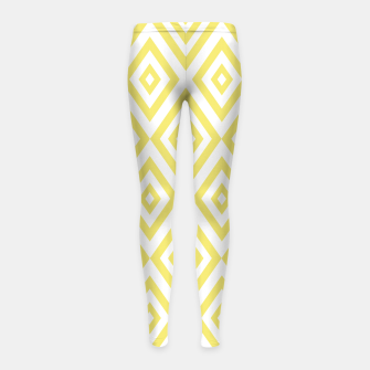 Miniaturka Abstract geometric pattern - gold and white. Girl's leggings, Live Heroes