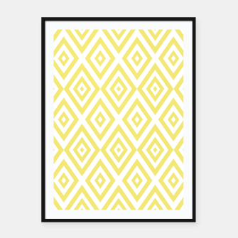 Miniaturka Abstract geometric pattern - gold and white. Framed poster, Live Heroes