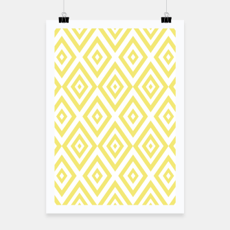 Miniaturka Abstract geometric pattern - gold and white. Poster, Live Heroes