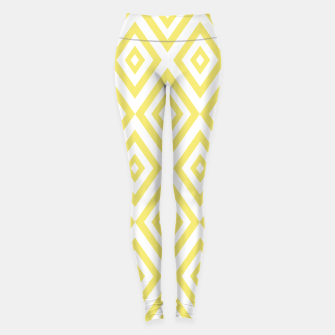 Miniaturka Abstract geometric pattern - gold and white. Leggings, Live Heroes