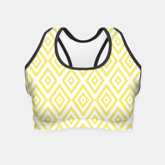 Miniaturka Abstract geometric pattern - gold and white. Crop Top, Live Heroes