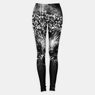 Thumbnail image of hedgehog watercolor splatters black white Leggings, Live Heroes