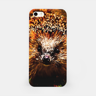 Miniatur hedgehog watercolor splatters iPhone Case, Live Heroes