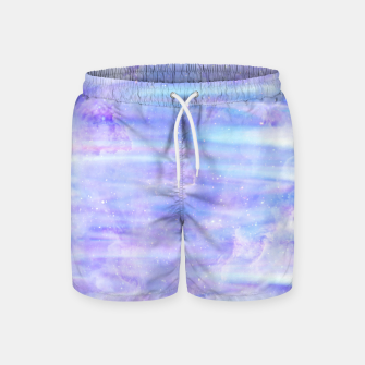 Thumbnail image of Cute purple falaxy Swim Shorts, Live Heroes