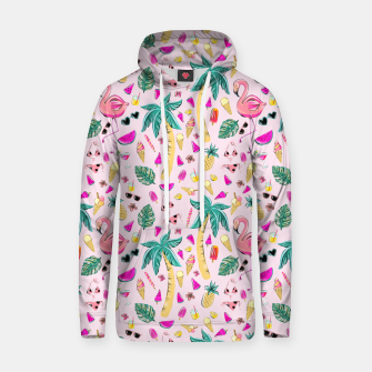 Pink Summer Vacation Sticker Print Hoodie imagen en miniatura