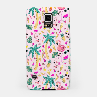 Pink Summer Vacation Sticker Print Samsung Case imagen en miniatura