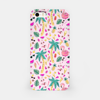 Pink Summer Vacation Sticker Print iPhone Case imagen en miniatura