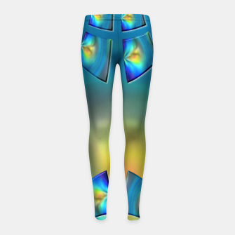 Thumbnail image of Eye Tricks 4/4 Girl's leggings, Live Heroes
