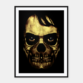 Thumbnail image of Angry Skull Monster Poster Framed poster, Live Heroes