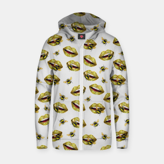 Thumbnail image of Feline kisses of bees Sudadera con capucha y cremallera , Live Heroes
