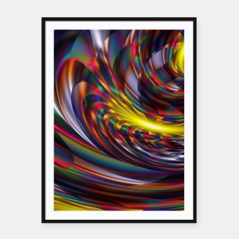 Thumbnail image of Metallic Color Framed poster, Live Heroes