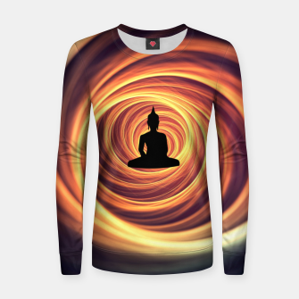 Thumbnail image of Silhouette of Buddha Women sweater, Live Heroes