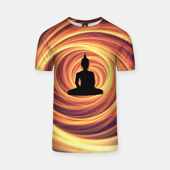 Thumbnail image of Silhouette of Buddha T-shirt, Live Heroes