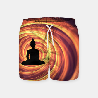 Thumbnail image of Silhouette of Buddha Swim Shorts, Live Heroes