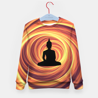 Thumbnail image of Silhouette of Buddha Kid's sweater, Live Heroes
