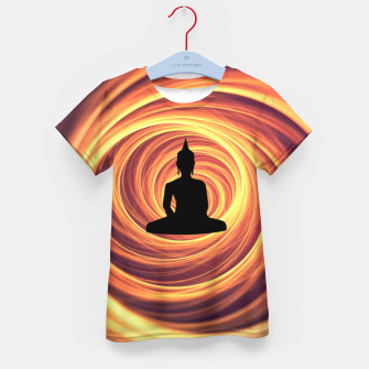 Thumbnail image of Silhouette of Buddha Kid's t-shirt, Live Heroes