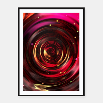 Thumbnail image of Ripples In Space Time Framed poster, Live Heroes
