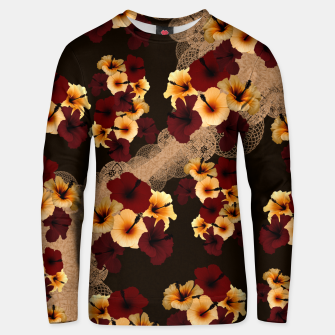 Thumbnail image of Hibiscus and Japanese emblem art Unisex sweater, Live Heroes