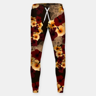 Thumbnail image of Hibiscus and Japanese emblem art Sweatpants, Live Heroes