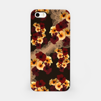 Miniatur Hibiscus and Japanese emblem art iPhone Case, Live Heroes