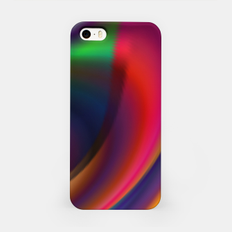 Metallic Color - Brush Strokes iPhone Case thumbnail image