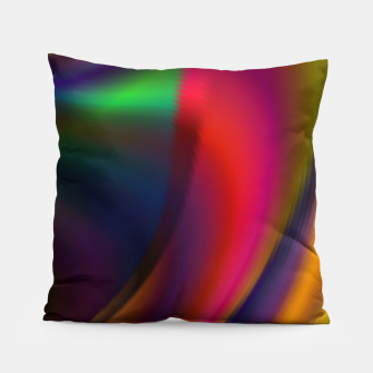 Metallic Color - Brush Strokes Pillow thumbnail image