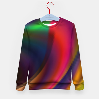 Metallic Color - Brush Strokes Kid's sweater thumbnail image