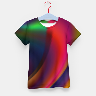 Metallic Color - Brush Strokes Kid's t-shirt thumbnail image