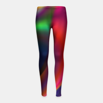 Metallic Color - Brush Strokes Girl's leggings thumbnail image