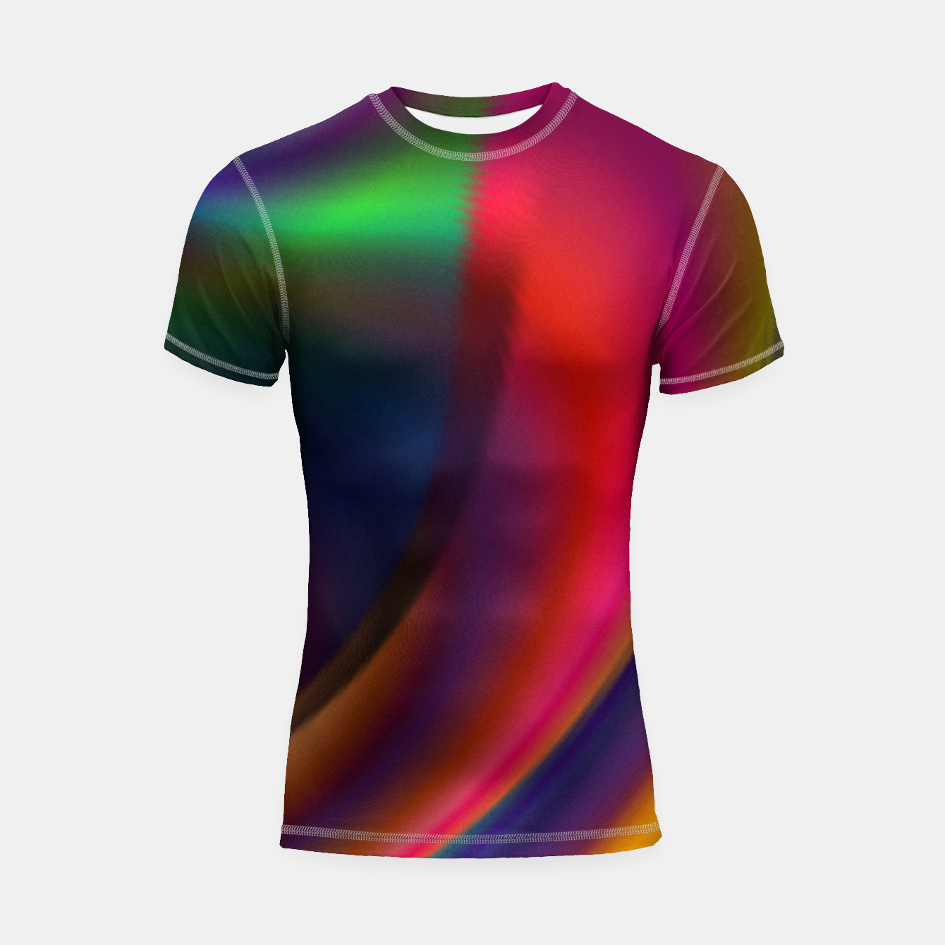 Image of Metallic Color - Brush Strokes Shortsleeve rashguard - Live Heroes