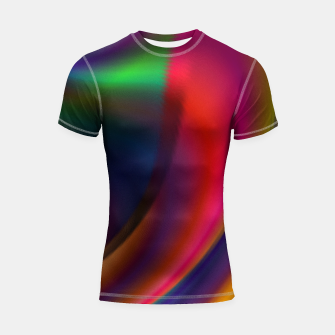 Metallic Color - Brush Strokes Shortsleeve rashguard thumbnail image