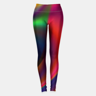 Thumbnail image of Metallic Color - Brush Strokes Leggings, Live Heroes