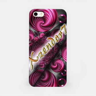 Xzendor7 Satin Rose Circular Spirals iPhone Case thumbnail image
